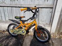 Kids dinosaur bike - 14 inch