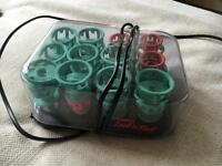Heated spiral curl rollers