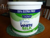 Emulsion Paint, Crown White Silk 12.5 litres