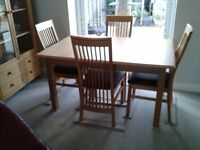 Diming Table and Four Chairs.