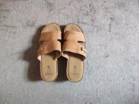 BRAND NEW - TU Leather Sandals - Size 6 - Wedge Heel
