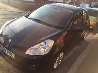 RENAULT CLIO BLACK 2008 ONLY 44K MILAGE FULL SERVICE HISTORY SUN ROOF