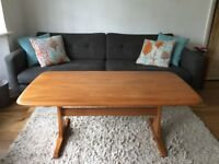 Rare Vintage large Ercol 874 coffee supper table tv unit