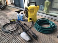 Pressure Washer - Karcher K2 Compact + accessories + water rose