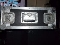 Riveted 4u flight case + rack strips for standard rack mount lids
