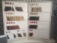 goldwell colour charts/+ accesories
