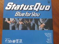 """Orig Status Quo - Blue For You 12"""" Vinyl Album LP 1976"""