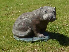 Large Heavy Vintage Tarka the Otter Garden Statue Garden Ornament 27cm Tall