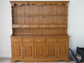 Large pine welsh dresser with lots of storage space
