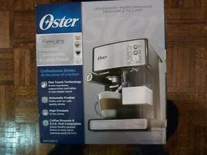 Oster Prima Latte Espresso Machine (BVSTEM6601SS-033) - Black/Stainless Steel