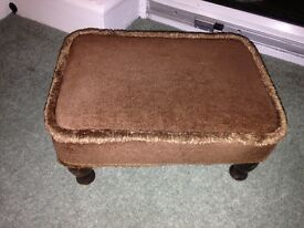foot stool brown