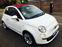 FIAT 500C CONVERTIBLE 2013 AUTO ONLY 5000 MILES HPI CLEAR 1 OWNER FULL HISTORY NOT AURIS YARIS
