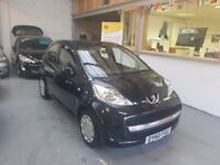 2010 PEUGEOT 107 1.0MANUAL, 5DOOR, BLACK, HPI CLEAR, VERY NICE CAR, VERY CLEAN CAR, DRIVES LIKE NEW