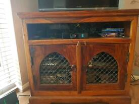Moroccan style TV cabinet and matching side board