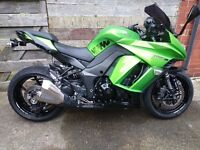 Kawasaki Z1000SX ABS 2014 IN GREEN WITH MATCHING PANIERS