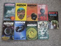 Isaac Asimov - 9 paperbacks, including A Whiff Of Death & The Stars Like Dust