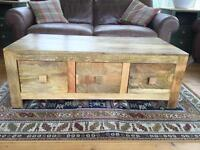OAK FURNITURE LAND MANTIS COFFEE TABLE
