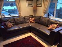 M&S Marks & Spencer brown leather Urbino corner sofa suite RRP £2500