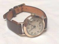 Vintage ladies solid 9k 9ct rose gold Avia watch