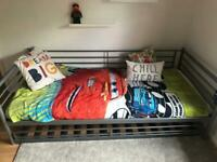 IKEA metal single bed frame and trundle