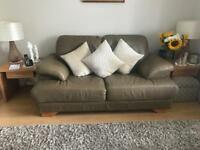 Leather SCS 2 and 4 seater sofa