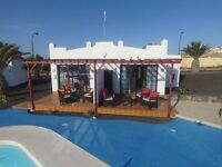 1 BEDROOM POOLSIDE LUXURY BUNGALOWS, CALETA DE FUSTE, FUERTEVENTURA FOR RENT