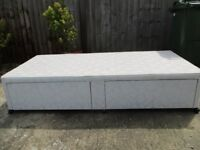 single bed base with two large drawers