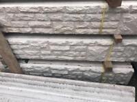 ❄️Rock Face Concrete Fencing Base Panels