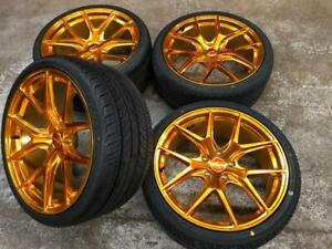 19 Polished Gold Wheels 5x114.3 and Staggered Tires (Japanese Cars) **ON SALE** Calgary Alberta Preview