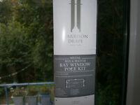 Bay window curtain pole. 3 metre length.