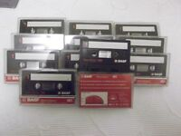 25 BASF Ferro Extra I C90 Ferric cassettes with pre-fitted labels - blank and ready to record