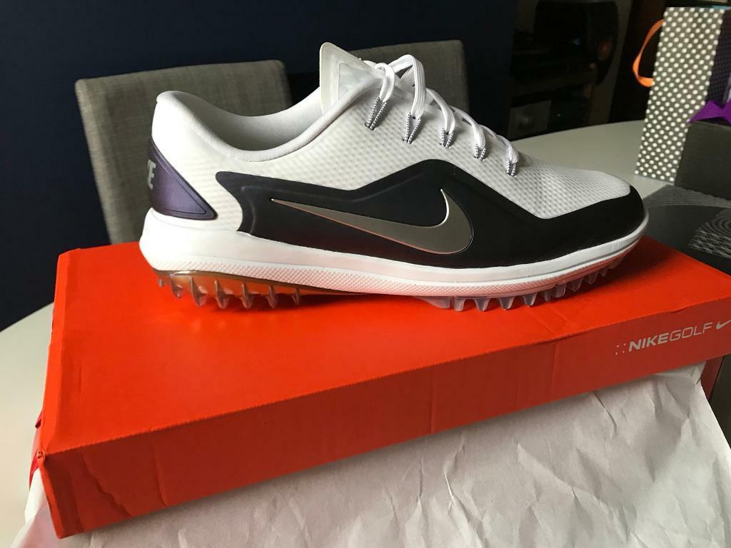 ca1147376bae NIKE GOLF SHOES - LUNAR CONTROL VAPOR 2 - WHITE - THUNDER BLUE 2018 - SIZE  UK 8.5