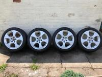"Mk5 Gti 17"" BBS monza alloys with Near new Goodyear Eagle F1 asymmetric 3's"