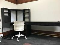 Ikea corner desk and office chair set
