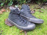 Black Converse Allstars boots size 5