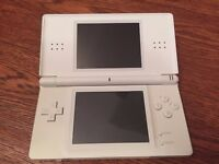 Nintendo DS Lite Handheld Console (White), Games and Accesssories Bundle