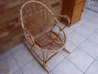 small cane rocking chair