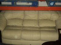 3 seater proper Leather sofa
