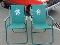 Two lightweight caravan chairs