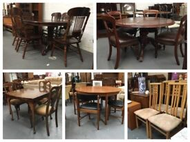 ** DINING TABLES & CHAIRS FOR SALE **