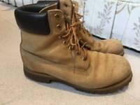 Timberland mens beige suede waterproof boots, 43/uk9, rrp £170