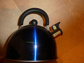 Camping Kettle Lightweight Whistling With Fold Down Handle
