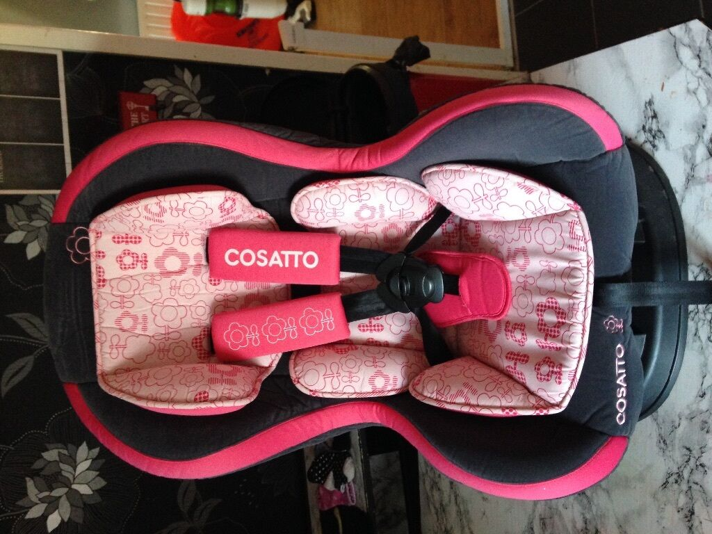Cosatto 9 18kg car seat grey and pink with flowers in redditch cosatto 9 18kg car seat grey and pink with flowers mightylinksfo