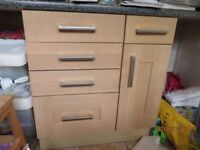 Beech Kitchen units - Very good condition