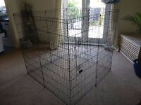 Large dog cage with door