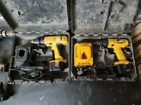 Joblot dewalt cordless drills and spares batteries and chargers