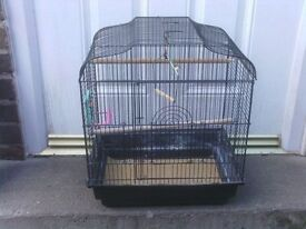 BIRD CAGE WITH PERCHES £10