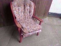 Armchair Country Style Padded Sofa Delivery Available