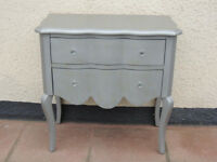 2 Drawer Chest of drawers French style (delivery)