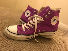 Purple Hightop Converse Size 8!!